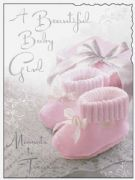 Birth of a Beautiful Baby Girl Card